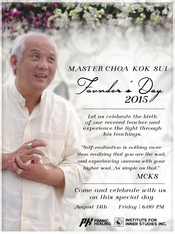 Master Choa Kok Sui - Founder's Day 2015